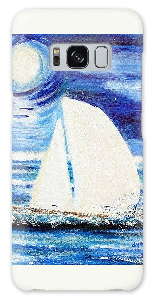 Moonlight Sail Galaxy Case by Diane Pape
