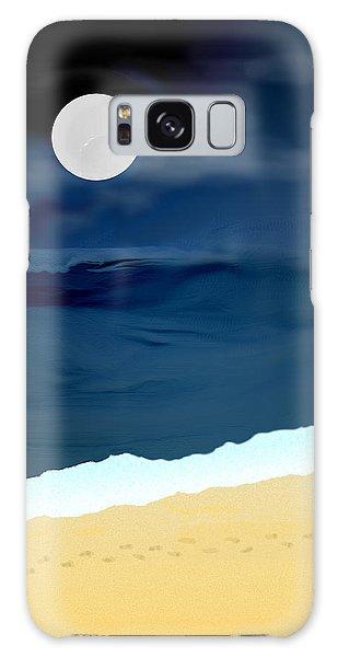 Moonlight Walk At Low Tide Galaxy Case by Kae Cheatham
