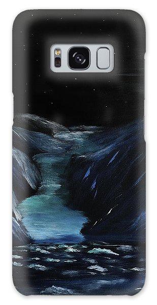 Moonlit Glacier Galaxy Case