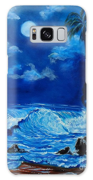 Moonlit Hawaiian Night Galaxy Case by Jenny Lee