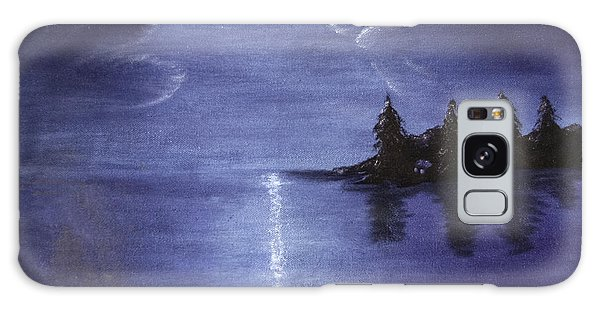 Moonlit Lake Galaxy Case