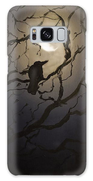 Moonlit Perch Galaxy Case