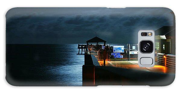 Moonlit Pier Galaxy Case