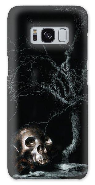 Moonlit Skull And Tree Still Life Galaxy Case