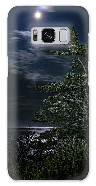 Moonlit Treescape Galaxy Case by Marty Saccone