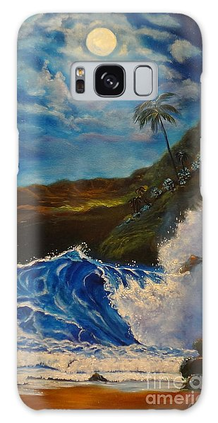 Moonlit Wave 11 Galaxy Case by Jenny Lee
