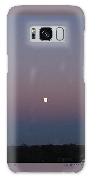 Moonrise At Sunset Galaxy Case by Patricia Overmoyer