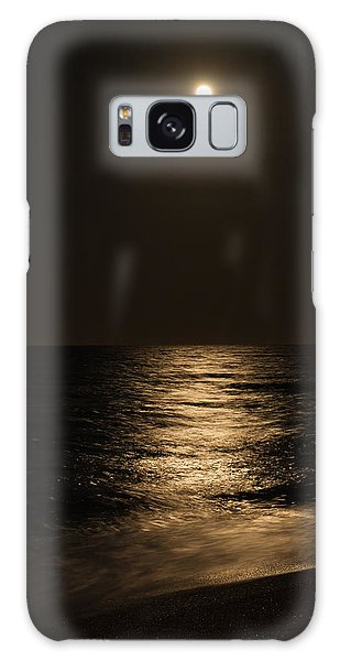 Moon Over Water Galaxy Case
