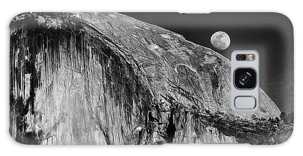 Moonrise Over Half Dome Galaxy Case