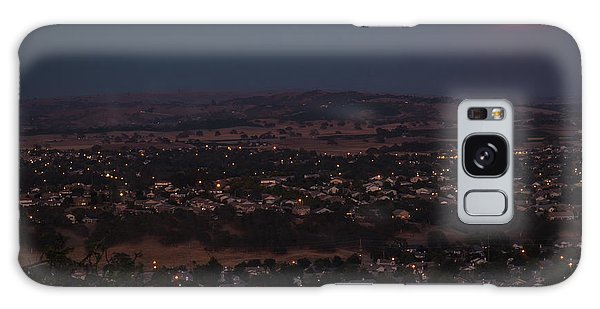 Moonrise Over Paso Galaxy Case by Tim Bryan