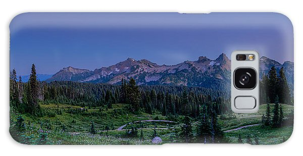 Moonrise Over Tatoosh Galaxy Case
