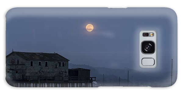Moonrise Over The Harbor Galaxy Case