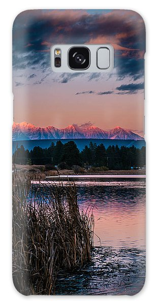 Moonrise Rocky Moutains Galaxy Case