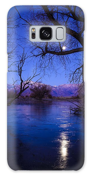 Moonset On Farmers Pond Galaxy Case by Joe Doherty