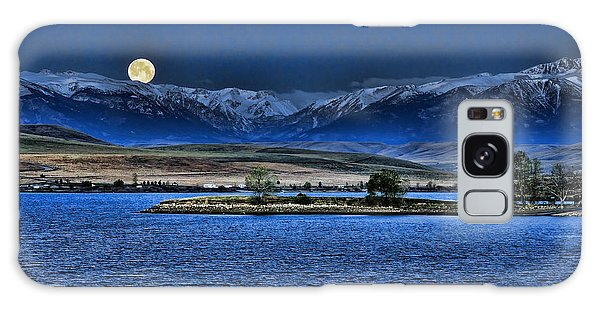 Moonset Over Cooney Galaxy Case