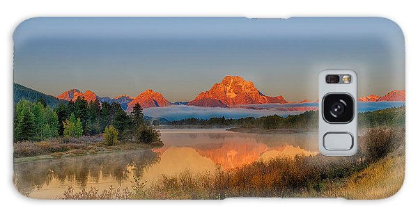 Moonset Over Oxbow Bend Galaxy Case