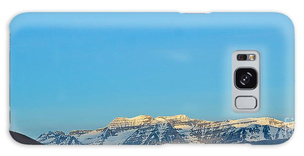 Moonset Over Timpanogos Galaxy Case