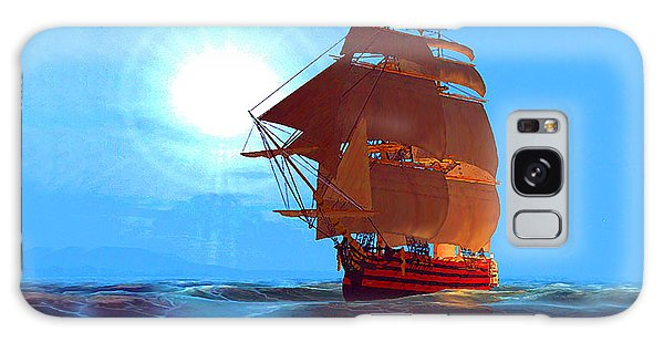 Moonship Galleon Filtered Galaxy Case