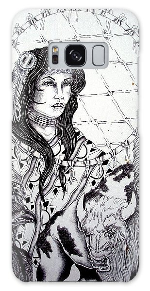 Moonstruck Feather Woman Galaxy Case