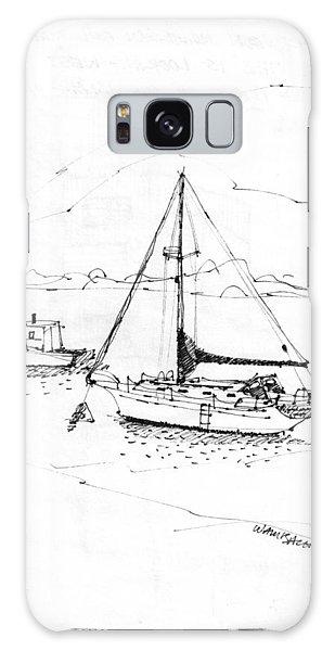 Moored Boats Monhegan Island Galaxy Case