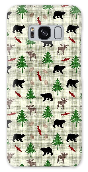 Moose And Bear Pattern Galaxy Case