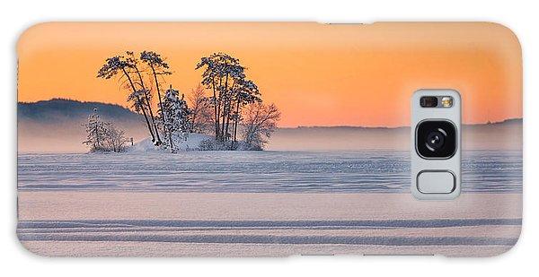 Moose Pond Winter Sunrise Galaxy Case