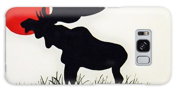Moose Stands Tall Galaxy Case by Al Fritz