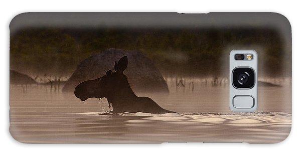 Moose Swim Galaxy Case by Brent L Ander