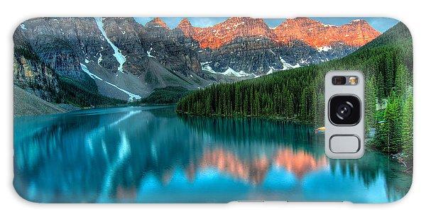 Moraine Lake Galaxy Case - Moraine Lake Sunrise by James Wheeler