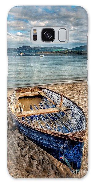 Morfa Nefyn Boat Galaxy Case by Adrian Evans