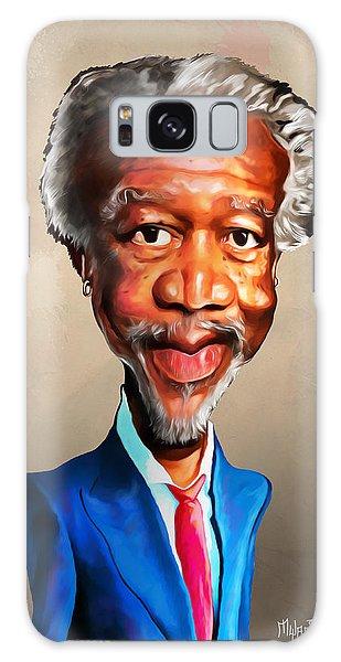Voodoo Galaxy Case - Morgan Freeman by Anthony Mwangi