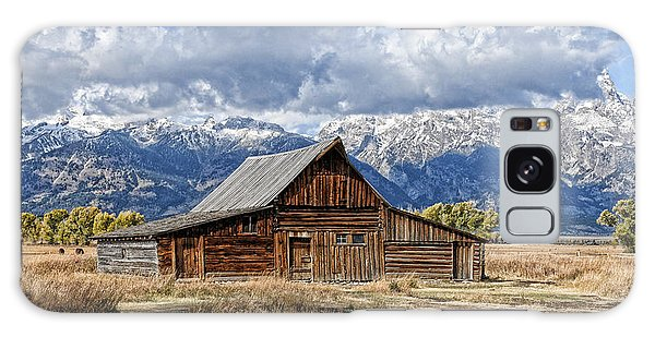 Mormon Barn With Horses Galaxy Case