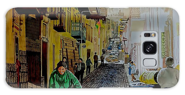 Morning At A Side Street In Cuzco Galaxy Case