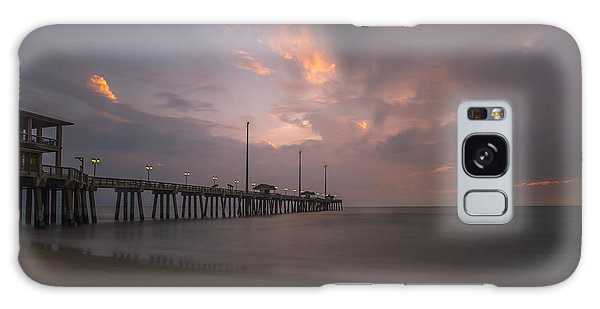 Galaxy Case featuring the photograph Morning At Jennette Pier by Dan Friend