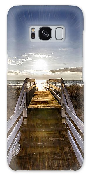 Morning Beach Light Galaxy Case