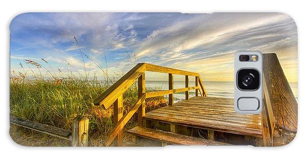 Morning Beach Walk Galaxy Case