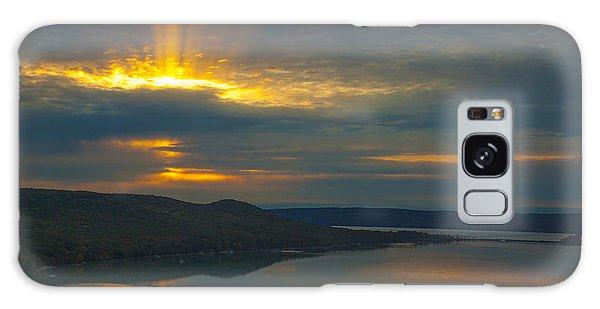 Morning Beams Over Glen Lake Galaxy Case