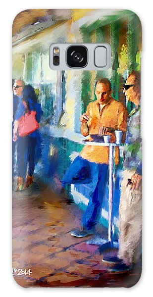 Morning Cafe Con Leche Break Galaxy Case by Ted Azriel