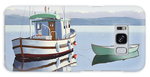 Morning Calm-fishing Boat With Skiff Galaxy Case
