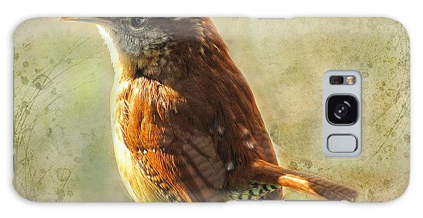 Morning Carolina Wren Galaxy Case