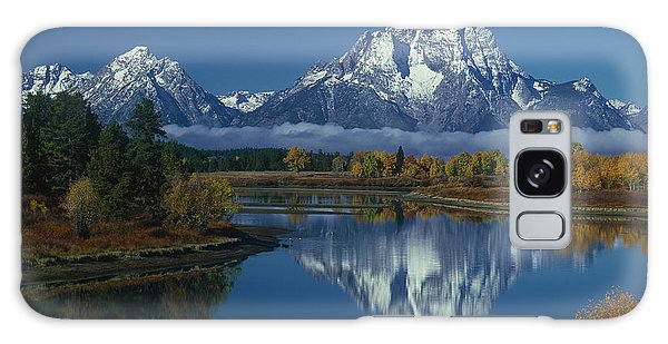 Morning Cloud Layer Oxbow Bend In Fall Grand Tetons National Park Wyoming Galaxy Case by Dave Welling