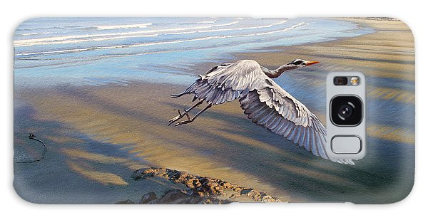 Herons Galaxy Case - Morning Fight-blue Heron by Paul Krapf