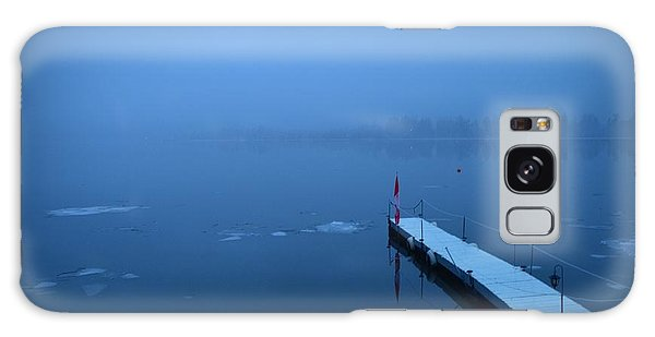 Morning Fog 002 - Skaha Lake 03-06-2014 Galaxy Case