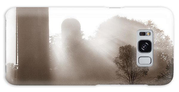 Morning Fog Burning Off The Farm Galaxy Case