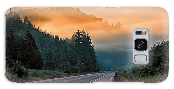 Morning Fog In Oregon Galaxy Case