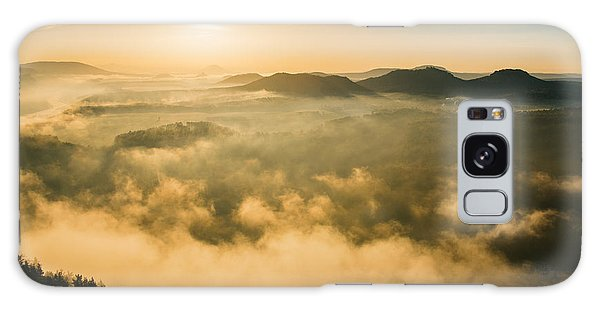 Morning Fog In The Saxon Switzerland Galaxy Case