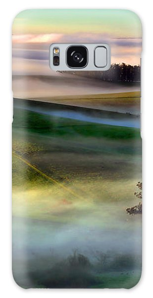 Morning Fog Over Two Rock Valley Diptych Galaxy Case by Wernher Krutein