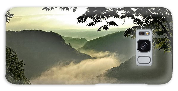 Morning Fog Galaxy Case by Richard Engelbrecht