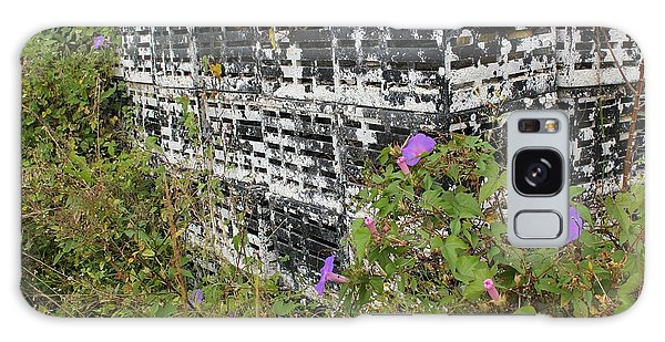 Morning Glories And Crab Traps Galaxy Case by Theresa Willingham