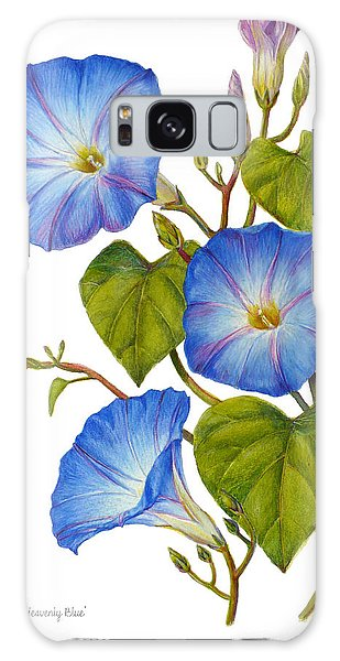 Morning Glories - Ipomoea Tricolor Heavenly Blue Galaxy Case by Janet  Zeh